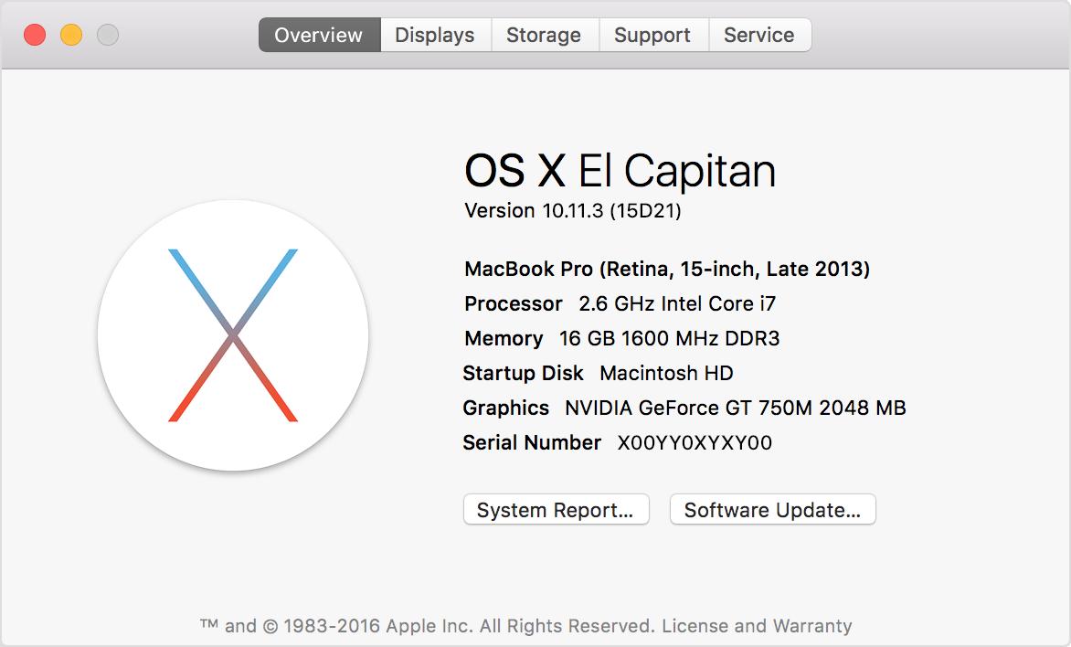 Kaip rasti OS X pavadinimą ir versijos numerį?