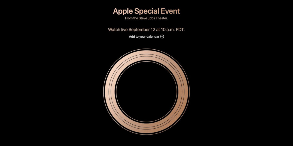 Apple 2018 September 12 event
