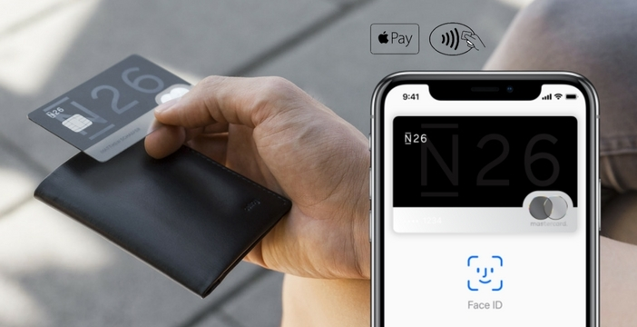 Apple Pay Lietuvoje naudojant N26 banko kortelę