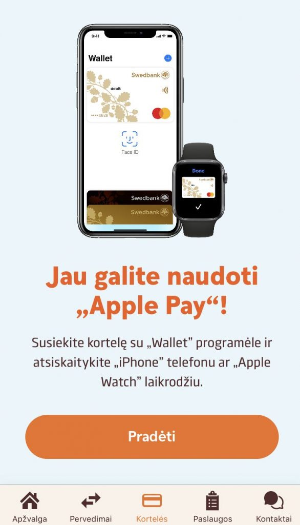 Swedbank Apple Pay